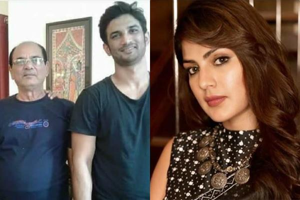 sushant singh rajput s father files fir against rhea chakraborty