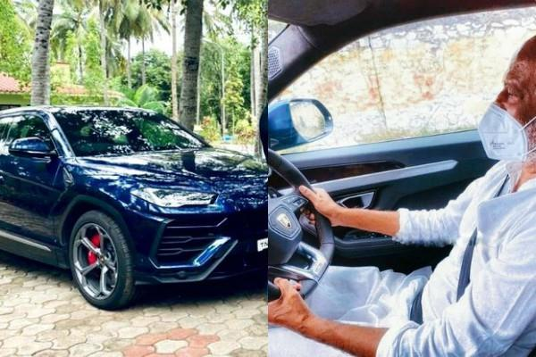 rajinikanth drives luxury car on the streets of mumbai pics viral