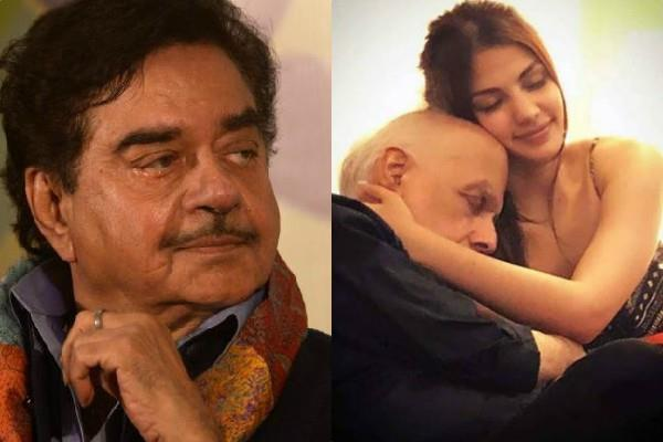 shatrughan sinha says mahesh bhatt and rhea chat should be presented cbi