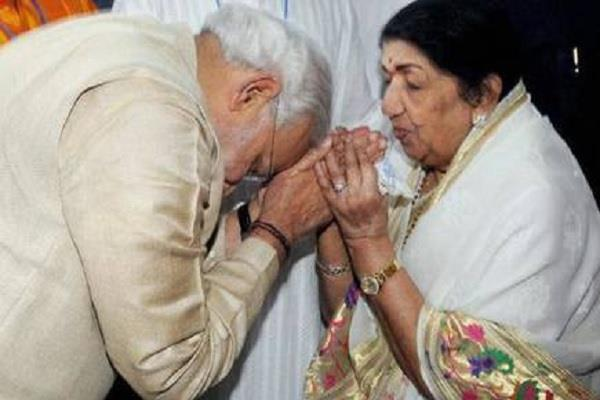 lata mangeshkar sends special message to pm narendra modi on rakhi