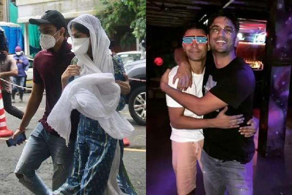 rhea chakraborty brother showik reaches cbi guest house