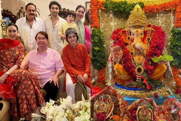 karisma ganeshotsav celebration with kareena and other family members