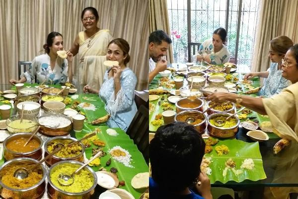 malaika arora and amrita arora celebrated onam festival with family