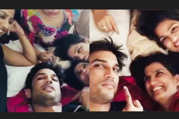 sushant singh enjoying ms dhoni with sisters video viral