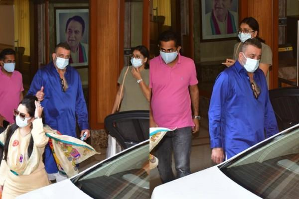 sanjay dutt leaves for kokilaben hospital with family