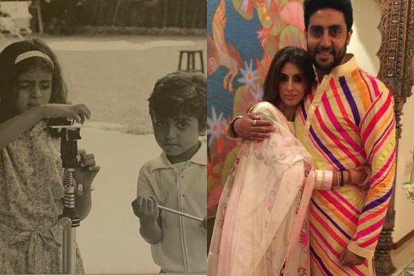 shweta bachchan shares special post on rakshabandhan for brother abhishek