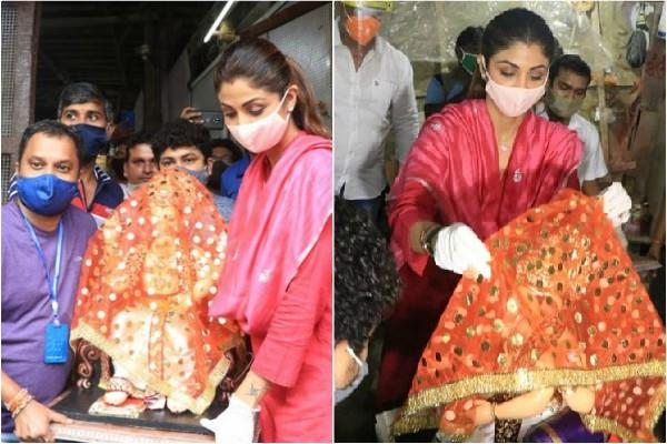 shilpa shetty celebrate ganesh chaturthi under lockdown and brings ganpati home