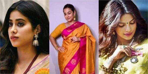 priyanka to kangana shared saree look photos on national handloom day