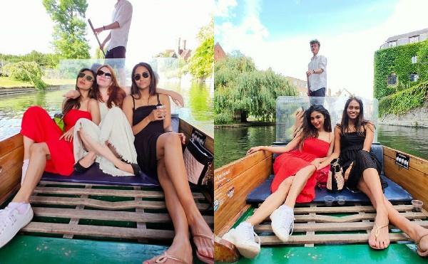 mouni roy fun with friends on the boat share vedio on social media