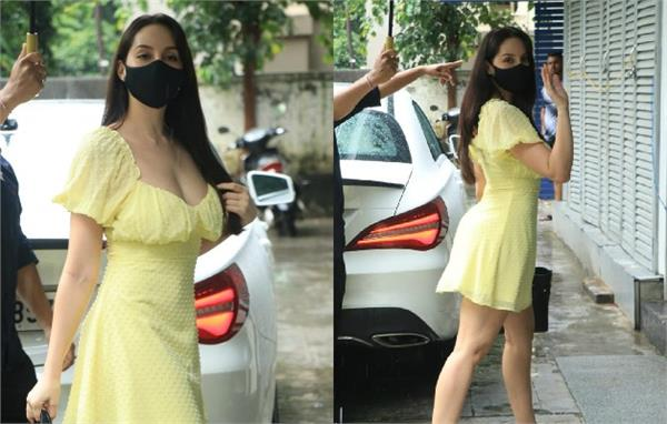 nora fatehi looks stunning as she spotted mumbai street
