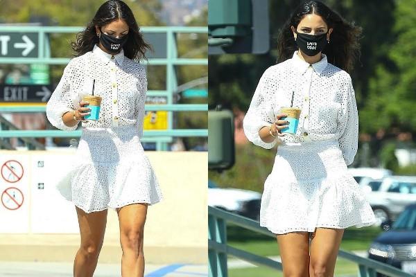 व्हाइट शॉर्ट ड्रेस में ऐजा गोन्जालेज का बोल्ड अंदाज, चमकती धूप में यूं दिए पोज