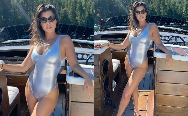 kourtney kardashian flaunts boldness in swimsuit