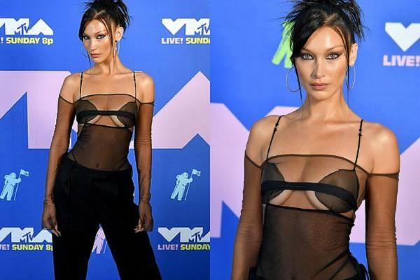 bella hadid spotted in award function