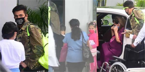 karan johar leave mumbai with kids yash and roohi mother hiroo johar