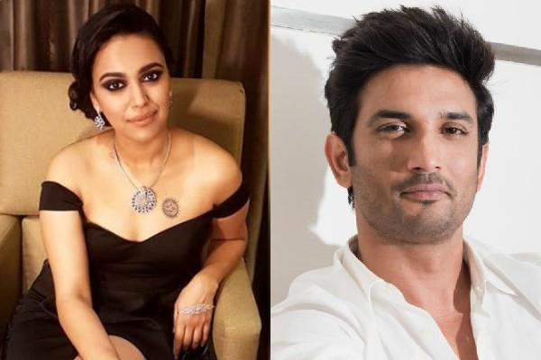 swara bhasker sarcastic remark on justice for sushant brigade