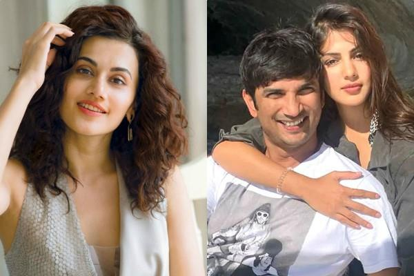 taapsee pannu asks if sushant alive he would have been jailed after rhea arrest