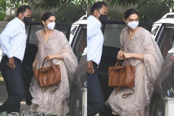 drugs case deepika padukone reaches ncb office