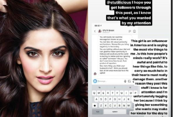 user trolled sonam kapoor on social media and actress gives battlefy reply