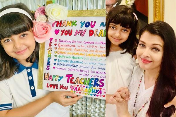 aaradhya bachchan celebrates teachers day aishwarya rai bachchan shared photo