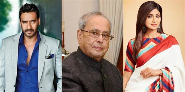 bollywood paid condolences to former president pranab mukherjee