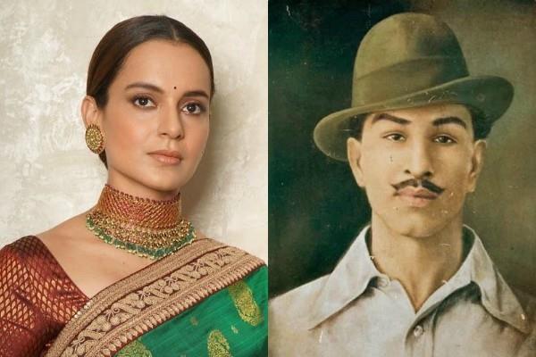 kangana ranaut remember shahid bhagat singh on his 113 birth anniversary