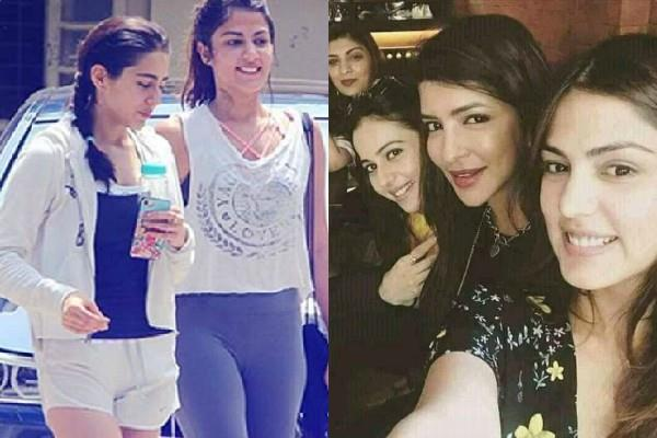 sara ali khan rakul preet singh and simone khambatta pictures viral with rhea