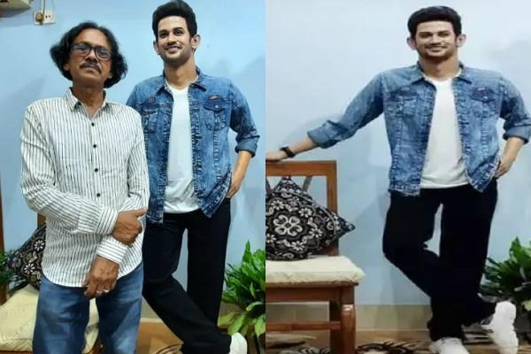 sushant singh rajput west bengal fan creates his wax statute for museum