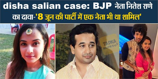 nitesh rane raised question on disha salian case