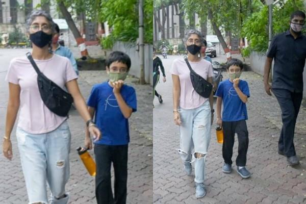 kiran rao outing with son azad