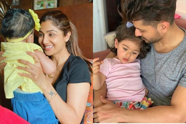 shilpa shetty to kunal khemu shared special pictures on  daughters day