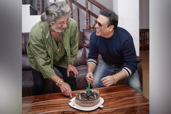 govinda made special birthday surprise to shakti kapoor