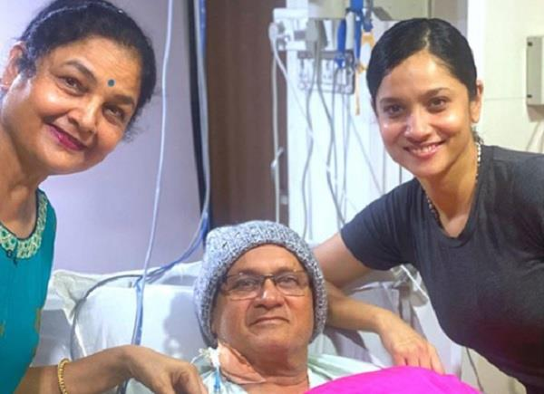 ankita lokhande heartfelt note for father and wish him for speedy recover