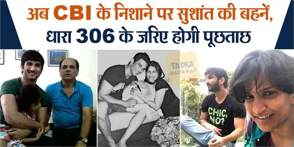cbi will interrogate sushant family in ipc section 306
