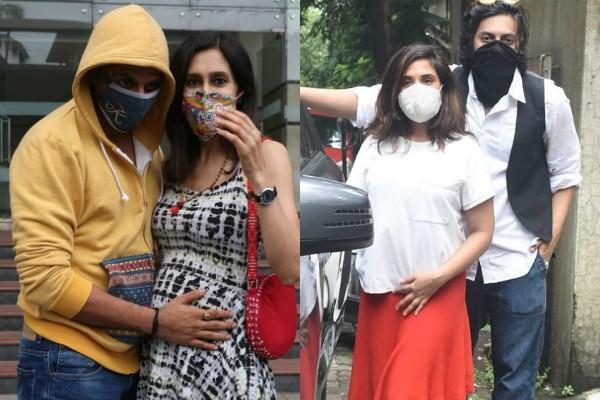 richa chadda ali fazal karanvir bohra with wife spotted at mumbai street