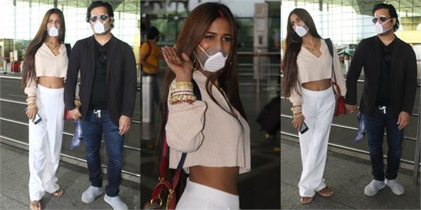 poonam pandey leaves for honeymoon with husband sam bombay