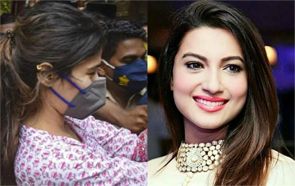 gauhar khan react to rhea being mobbed at ncb office