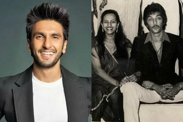 ranveer singh shared photos on mom and dad 40th marriage anniversary