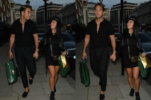 yazmin oukhellou spotted with james lock hold hand in hand