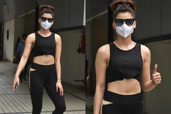 urvashi rautela spotted outside the t series office