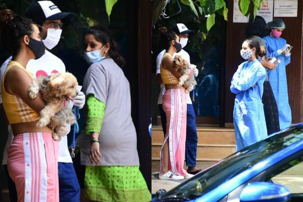 rajkumar rao spotted outside the pet clinic with his girlfriend