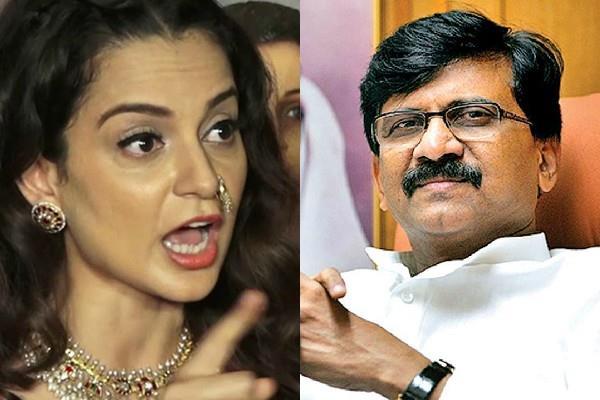 kangana accuses sanjay raut of threatening to come to mumbai