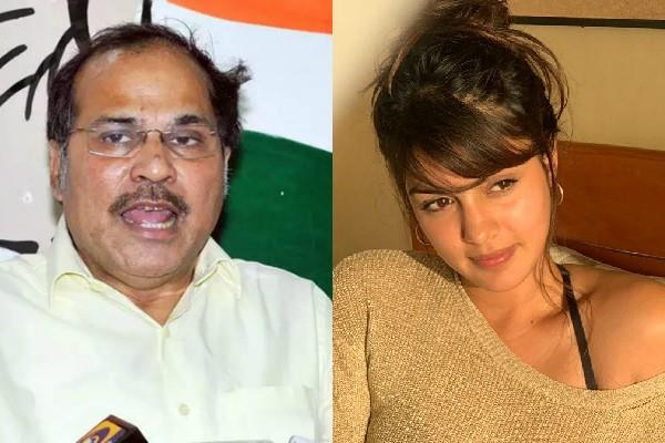 congress leader adhir ranjan came in support of rhea chakraborty
