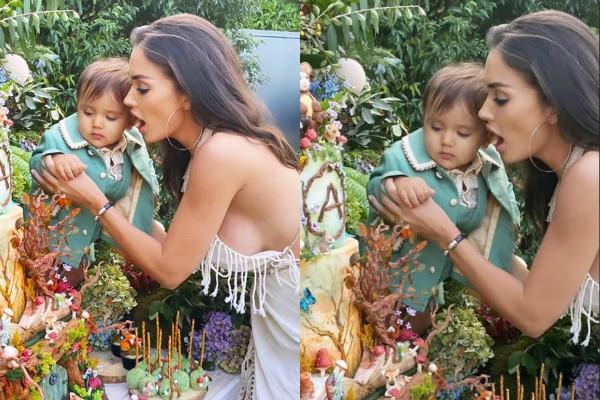 amy jackson looked bold in son birthday celebration