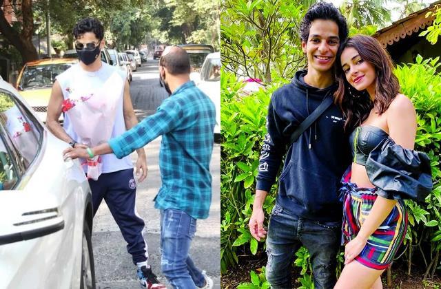 drug case ishaan khatter buying flowers before paying ananya panday visit