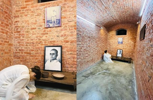 kangana pays gratitude to veer savarkar as she visits his cell in kala pani