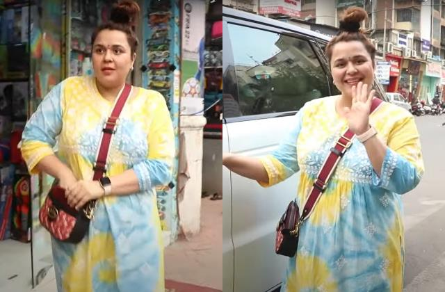 kapil sharma wife ginni chatrath spotted in store for kanya pujan shopping