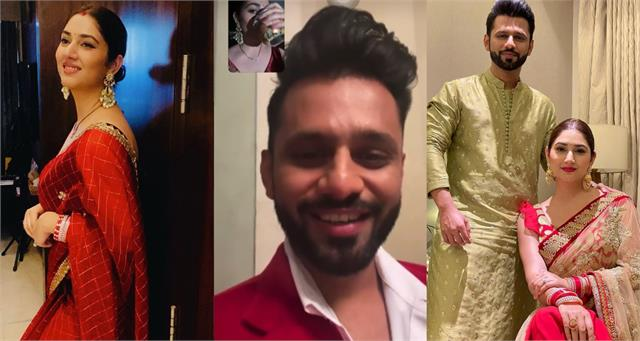 disha parmar and rahul vaidya celebrate first karva chauth