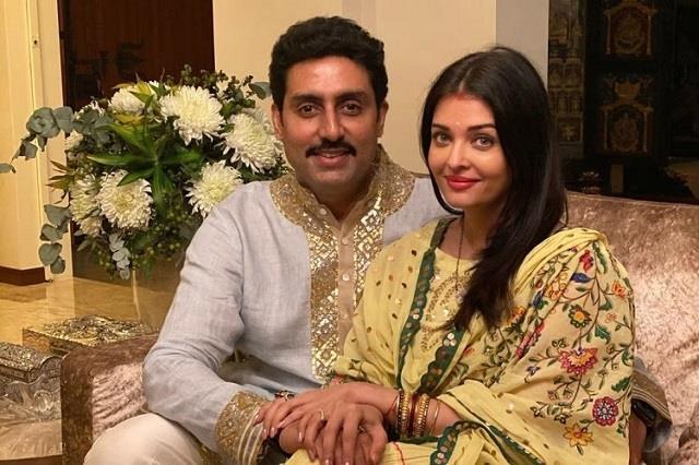 abhishek bachchan returns home to surprise aishwarya on karwa chauth