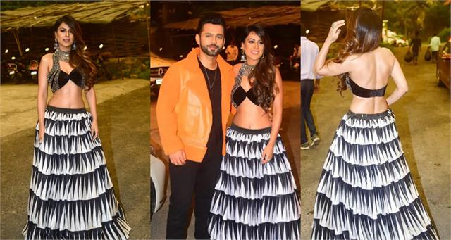 nia sharma spotted with rahul vaidya actress looks so hot in black bralette
