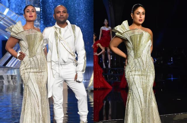 kareena kapoor looks stylish at lakme fashion week 2021 grand finale